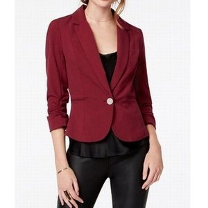 XOXO Suits & Blazers Single Button Ruched